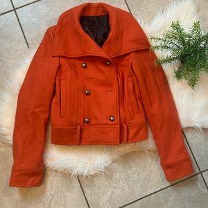 Orange wool blazer. Size S